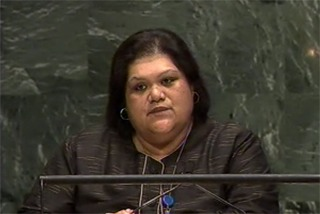H.E. Ms. Marlene Moses for Nauru and PSIDS chair